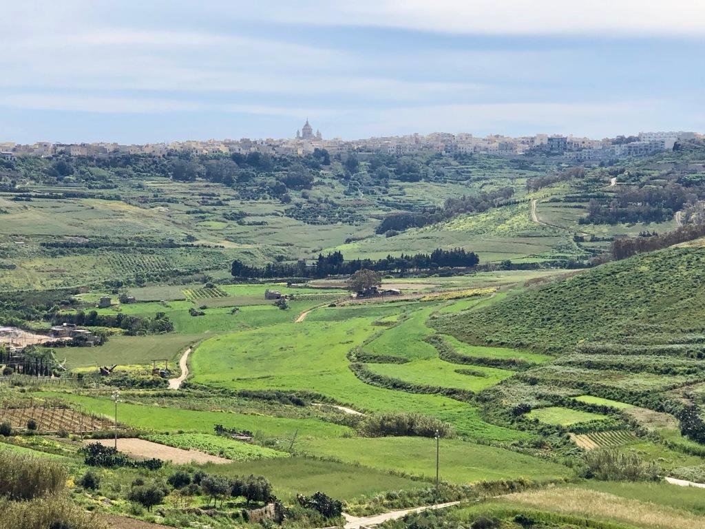 Paysage typique de l'Île de Gozo, à la fois historique et rural